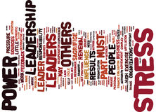 Leadership Power Stress Part Sources Text Background  Word Cloud Concept Royalty Free Stock Photography