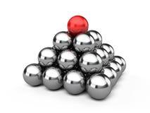 Leadership pyramid stock illustration