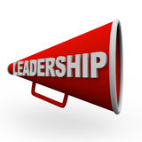 Leadership - Red Bullhorn Royalty Free Stock Photos