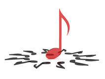 Leadership of Red Musical Note Royalty Free Stock Image