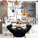 Leadership and research success Royalty Free Stock Images