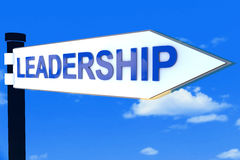 Leadership road direction sign Royalty Free Stock Photography