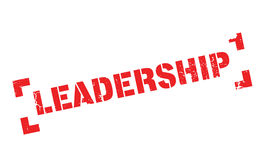 Leadership rubber stamp Royalty Free Stock Photos