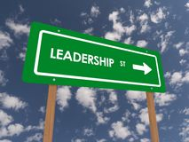 Leadership sign Royalty Free Stock Image