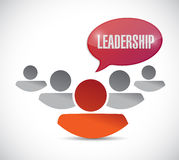 Leadership sign and team illustration design Royalty Free Stock Photography