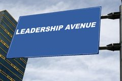 Leadership Signboard Concept Stock Photography
