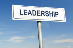 Leadership signpost Royalty Free Stock Images
