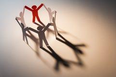 Leadership of six team Royalty Free Stock Image