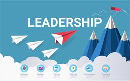 Leadership skills infographic template, With some simple steps or options to help you design for your business. Stock Photography