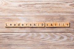 Leadership skills word written on wood block. Leadership skills text on wooden table for your desing, concept.  royalty free stock photos