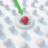 Leadership sphere in center Royalty Free Stock Photography