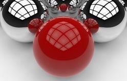 Leadership - spheres concept Royalty Free Stock Photos