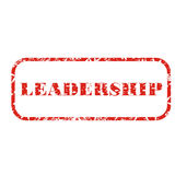 Leadership stamp Royalty Free Stock Image
