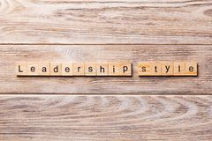 Free LEADERSHIP STYLE Word Written On Wood Block. LEADERSHIP STYLE Text On Wooden Table For Your Desing, Concept Stock Photography - 138424202
