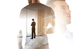 Leadership, success, research and job concept Royalty Free Stock Photos