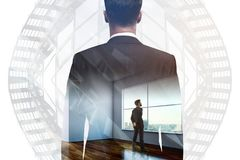 Leadership, success, research and work concept Royalty Free Stock Photo