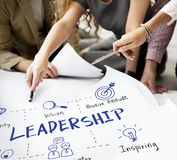 Leadership Success Skills Drawing Graphic Concept stock image