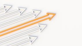 Orange leader arrow stock illustration