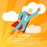 Leadership superhero poster Stock Images