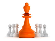 Leadership symbol - chess figures Royalty Free Stock Image