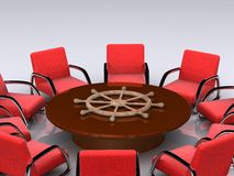 Leadership table Stock Images