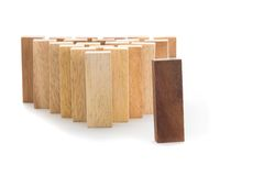 Leadership and team abstract business concept, wooden block on w Royalty Free Stock Image