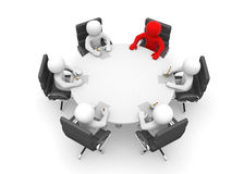 Leadership and team at conference table Royalty Free Stock Image