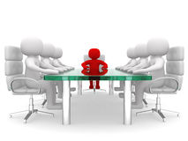 Leadership and team at conference table Royalty Free Stock Photography