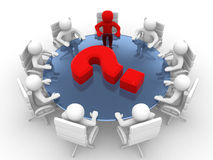 Leadership and team at conference table. Stock Image