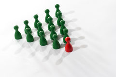 Leadership teamwork business concept. Leadership concept, leader and group of gray items Stock Photos