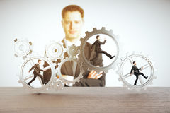 Leadership and teamwork concept Royalty Free Stock Photo