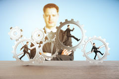 Leadership and teamwork concept Stock Images