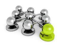 Leadership teamwork concept spheres group Royalty Free Stock Photo