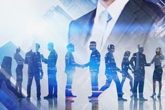 Leadership and teamwork concept royalty free stock image