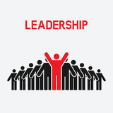 Leadership and teamwork concept Royalty Free Stock Images