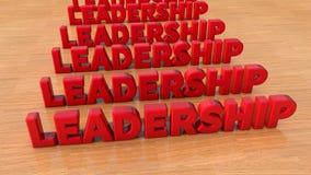 Leadership text and floor Stock Photos