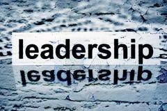 Leadership text on grunge background Stock Photo