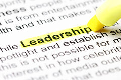 Leadership Text with Highlighter Royalty Free Stock Image