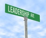Leadership Themed Street Sign Stock Photography