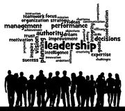 Leadership topics. Relevant topics regarding leadership and successful management Royalty Free Stock Photo