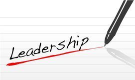 Leadership underlined in pen Royalty Free Stock Photos