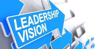 Leadership Vision - Label on Blue Cursor. 3D. Stock Image