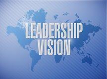 Leadership vision world map sign Royalty Free Stock Photos