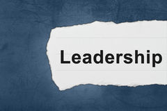 Leadership with white paper tears Stock Image