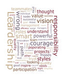 Leadership word cloud. On white background Stock Images