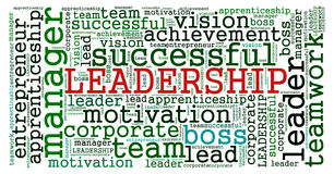 LEADERSHIP word cloud Concept Stock Photos