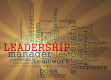 LEADERSHIP word cloud Concept Royalty Free Stock Images