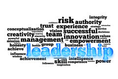 Leadership  word cloud Royalty Free Stock Photo