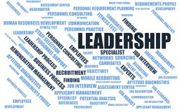 Leadership - word cloud / wordcloud with terms about recruiting Stock Photography