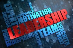 Leadership. Wordcloud Concept. Stock Image
